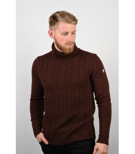 "PULL GROSSE MAILLE CHOCOLAT ""LE CHAMONIX"""