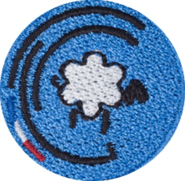 Bleu Marine Brodé