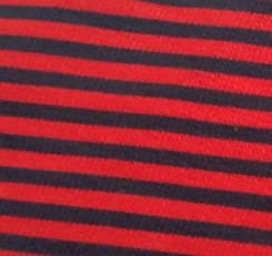 Marine rayé Rouge